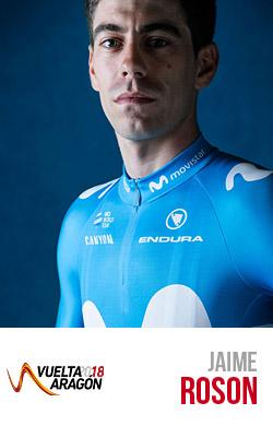 Roson del team Movistar primo alla Vuelta Aragon