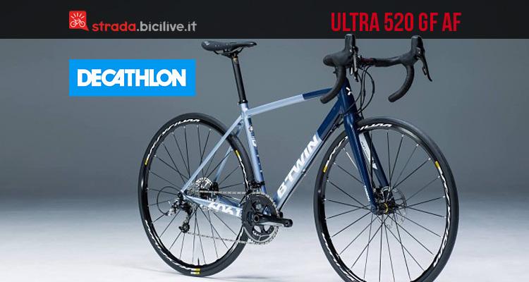 bicicletta da granfondo Decathlon Ultra 520 GF AF