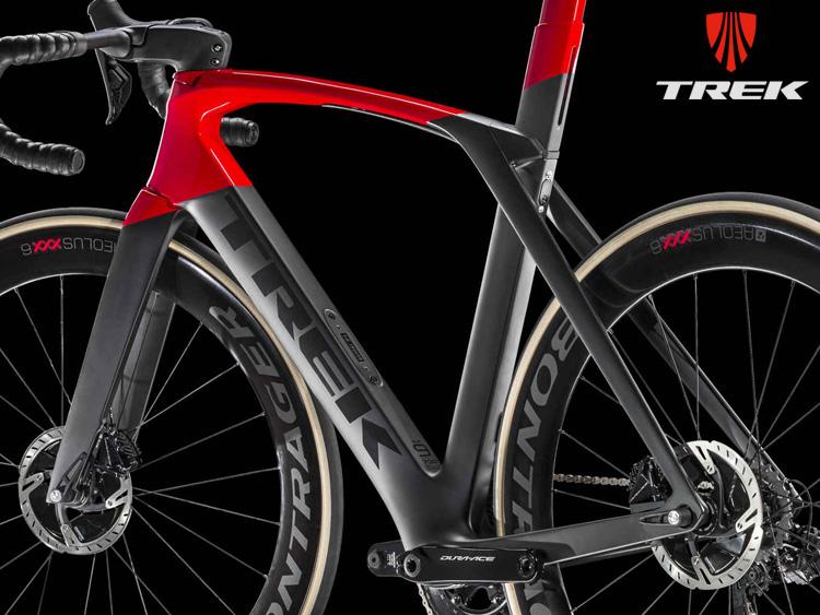 Dettagio del telaio della bici da corsa Trek Madone SLR 9