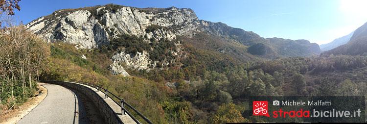 Panorama dalla ciclabile da Rovereto a Torbole