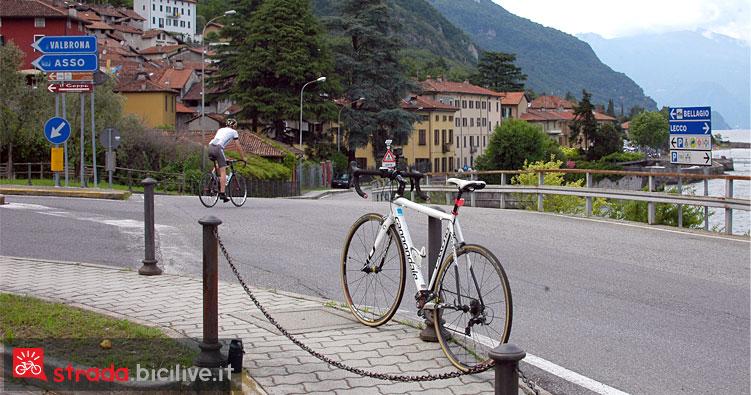 partenza in bicicletta da Onno verso Bellagio