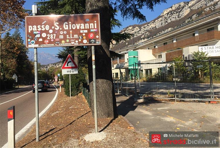 passo San Giovanni percorrendo la ciclabile da Rovereto