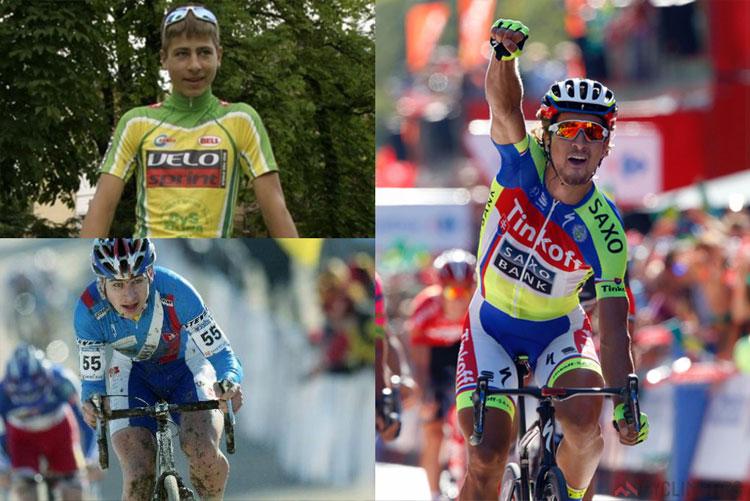 foto degli esordi di Peter Sagan nel ciclismo