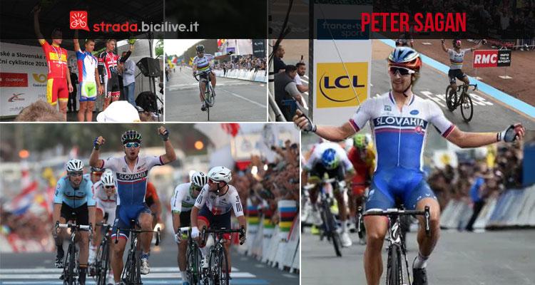 collage di foto delle vittorie di Peter Sagan