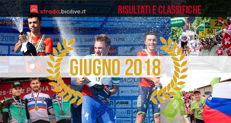 vincitori delle gare di ciclismo di giugno 2018