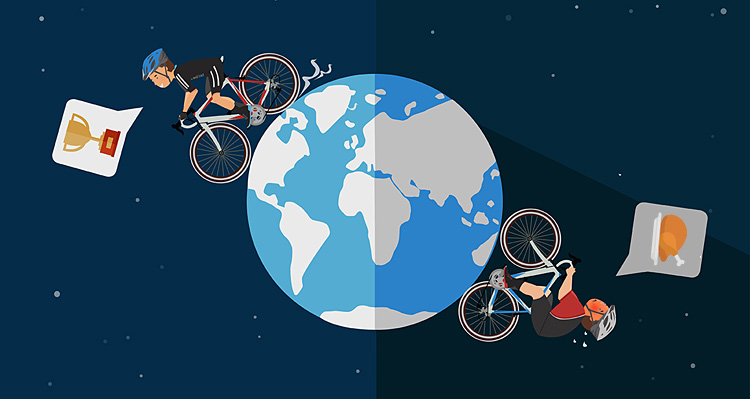 obiettivi del ciclista veloce e di quello lento