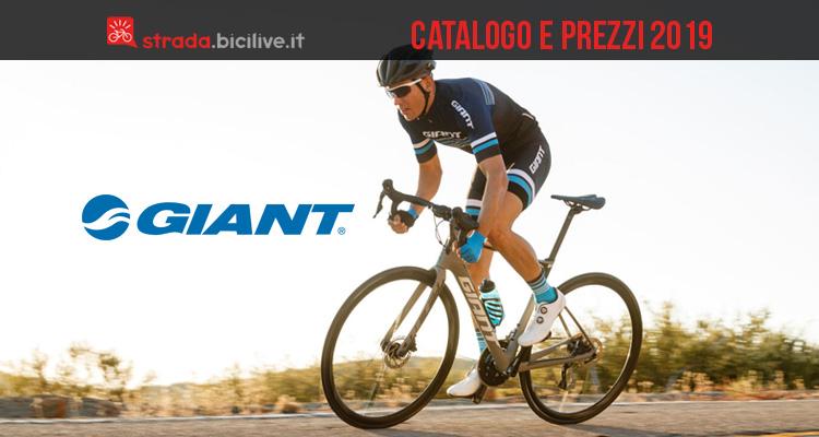 Giant bici da corsa e ciclocross catalogo listino prezzi 2019