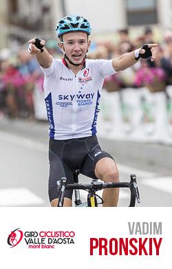 Vadim Pronskiy vincitore del giro della Valle d'Aosta
