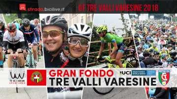 collage di foto della Gran Fondo Tre Valli Varesine