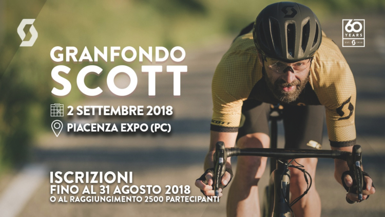 Granfondo Scott Piacenza 2018 iscrizioni