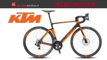 bici da corso top di gamma del catalogo KTM 2019