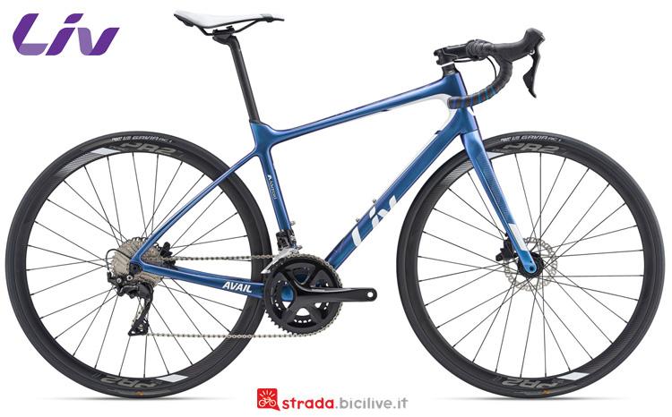 Una bicicletta da strada Liv Avail Advanced 2 gamma 2019