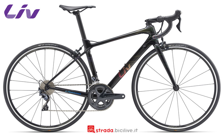 Una bici da strada Liv Langma Advanced 1 2019