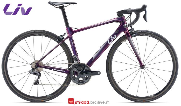 Una bicicletta da strada Liv Langma Advanced Pro 0
