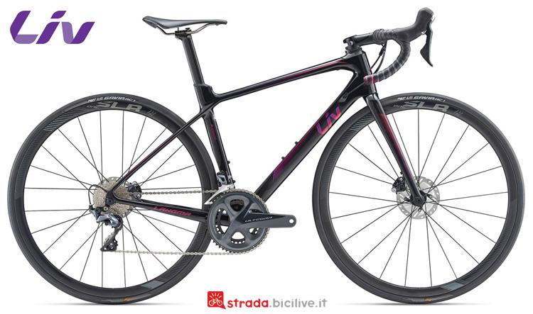 Una bici da corsa Liv Langma Advanced Pro 1 Disc dal catalogo 2019