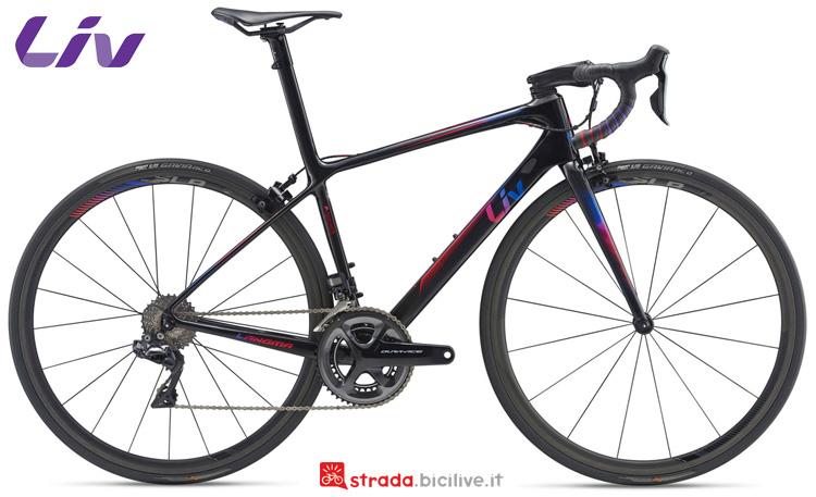 Una bici da corsa Liv Langma Advanced SL 0 2019