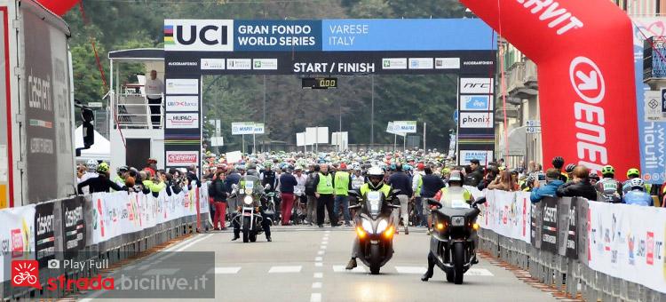 partenza della GF UCI Tre Valli 2018