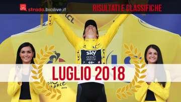 Geraint Thomas sul podio del Tour 2018