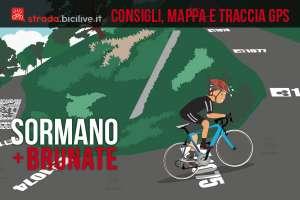 ciclista sale il muro di Sormano