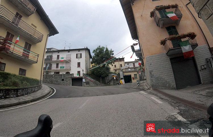 Arrivo a Sormano in bicicletta