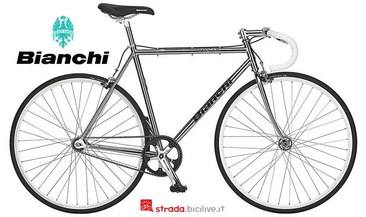 bici fissa in acciaio Bianchi Pista Steel 2019