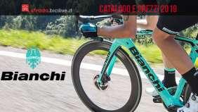 bici da strada del catalogo Bianchi 2019