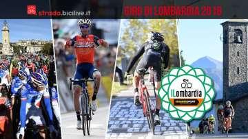 collage di foto con Nibali del Giro di Lombardia