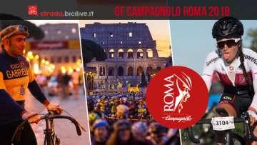collage di foto della Granfondo Campagnolo Roma