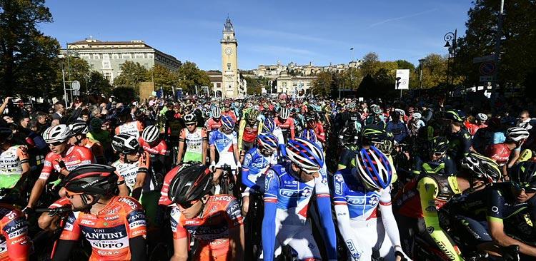 partenza del Giro di Lombardia 2018 a Bergamo