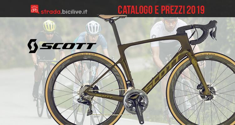 Scott strada, endurance e ciclocross: catalogo e listino prezzi 2019