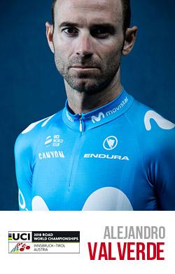Valverde campione del mondo di ciclismo UCI