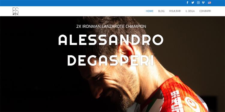 La home page del sito ufficiale di Alessandro Degasperi