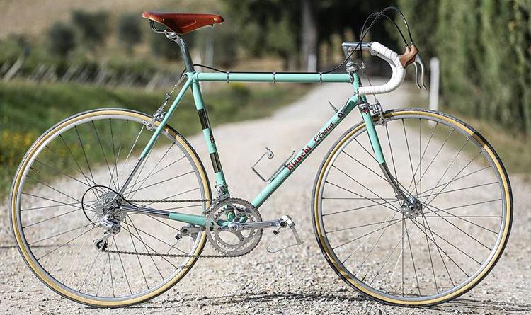 bici vintage Bianchi in stile Eroica