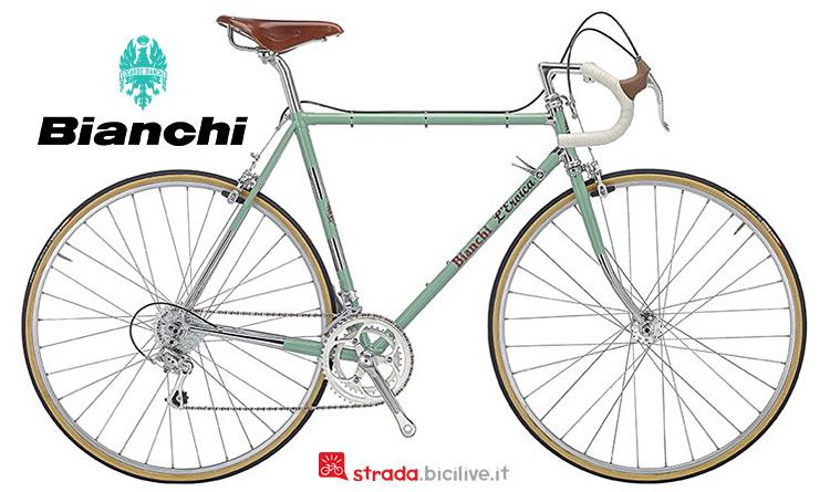 bici vintage Bianchi L'Eroica con sella Brooks