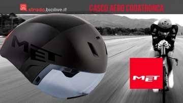 casco aero da triathlon MET Codatronca