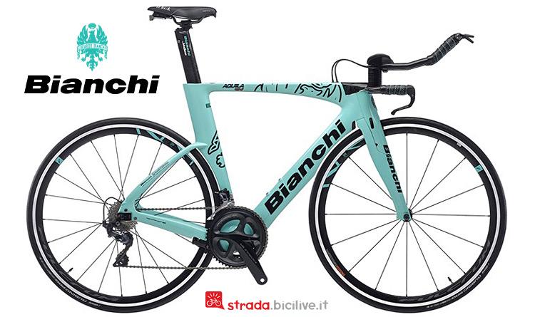 bici da triathlon Bianchi in carbonio Countervail