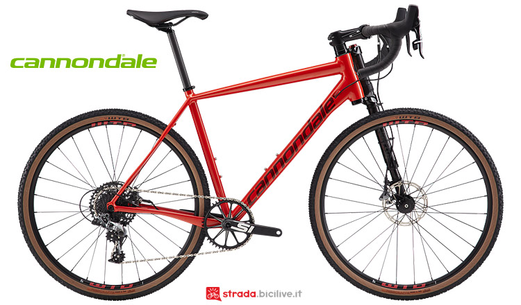 gravel Cannondale Slate con forcella ammortizzata Lefty
