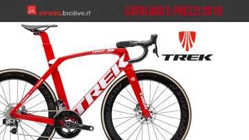 Trek bici da corsa, gravel e ciclocross 2019: catalogo e listino prezzi