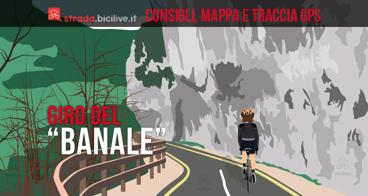 ciclista nel giro del banale sul lago di Garda