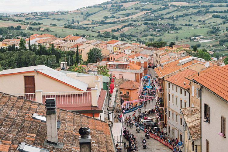 Paesaggi della Toscana durante il Giro d'Italia