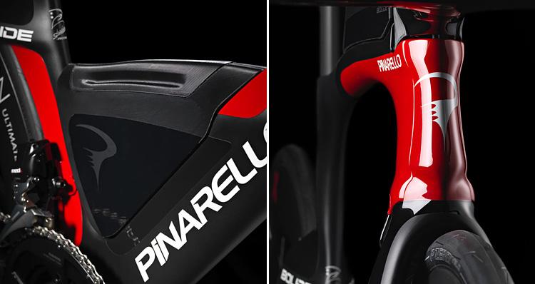 particolari della bici da triathlon Pinarello Bolide TR+