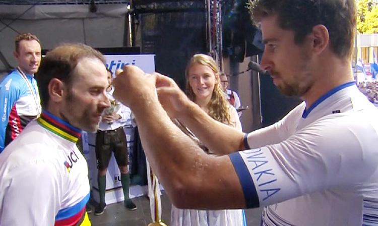 Sagan premia Valverde ai Mondiali UCI