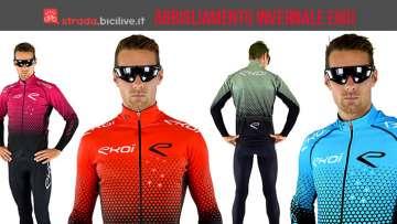 ciclisti con abbigliamento invernale Ekoi Star