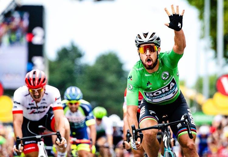 Peter Sagan con la maglia verde del Tour