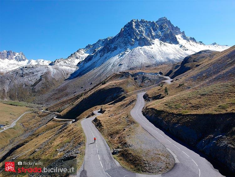 panorama del Col du Galibier che affronteranno al Tour 2019