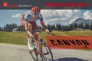 Le bici strada di Canyon catalogo e listino prezzi 2019