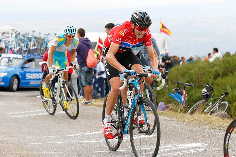 Chris Froome durante la Vuelta di Spagna nel 2011