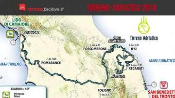 Tirreno-Adriatico 2019: dal 13 al 19 marzo