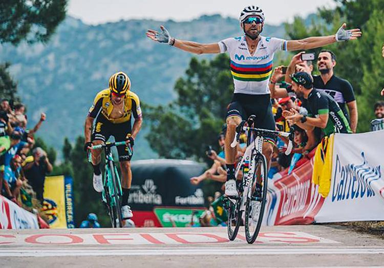 Alejandro Valverde vince la tappa 7 della Vuelta 2019
