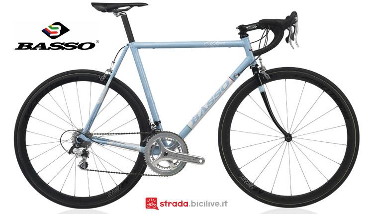 bici vintage in acciaio a scatto fisso Basso Viper